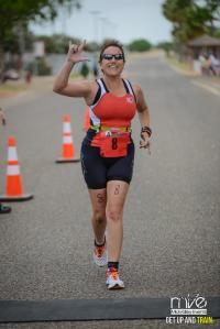 Today I completed my first triathlon. It was one of the toughest experiences I've ever had. I can't wait to do it again!