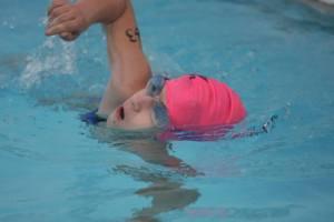 Susannah swimming