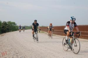 Riding along the levy and the Texas/Mexico border wall. Before this ride, I had never seen the wall!!!
