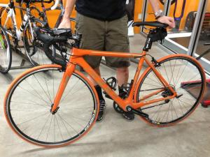My custom Felt Bike is now all orange! She got new orange tires. Looking sharp!!! My momma would have loved this!