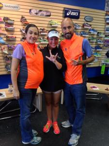 Luci and German with me at Valley Running Company