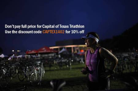 I'm trying to contact as many people as I can that plan on competing at CAPTEXTRI and let you know that LifeTimeTri has given me a discount code that gives registrants 10% off the cost of registration and in turn gives that discount to the charity of my choice (that would be the Leukemia and Lymphoma Society in memory of my mother and Sissy). Please help me spread the word to your training group that you work out with. I know most of us have already registered by this time but if you know of some people who have been on the fence or are procrastinators, please let them know about my discount code CAPTEXTRI1402 Thanks so much! I know... odd that you don't know who I am but I'm basically a girl who made a promise to her mother before she died to do all that she could to never let any other family go through what we did. See you at CapTex!!!
