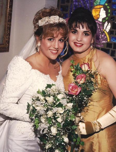 Larisa, my Matron of Honor, at my wedding almost 20 years ago!!!
