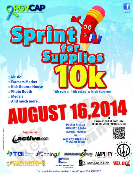 Sign up here to participate via active.com http://www.active.com/mcallen-tx/running/races/sprint-for-supplies-10k-10k-relay-and-kids-fun-run-2014