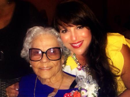 My Tia Estella and I celebrating her 92nd birthday.