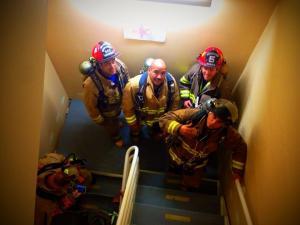 McAllen Stair Climb challenge fire fighters