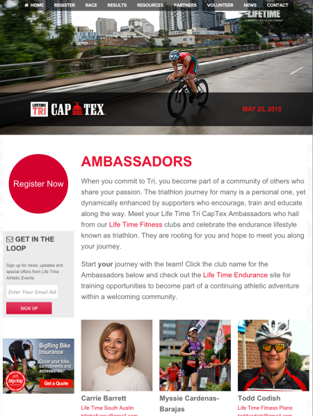 Choose Myssie Cardenas-Barajas as your ambassador and LifeTime Triathlon will make a donation to help #TEAMSARAH and support me in my journey to live in a world without cancer.