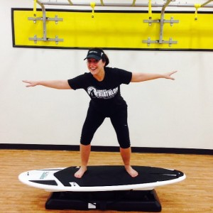 My first #surfset class  at Contempo Fitness Studio - LOVED IT