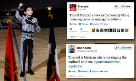 Some of the racially hateful comments made by cyber bullies on social media to Sebastien de la Cruz after singing the National Anthem at a Spurs basketball game in San Antonio.