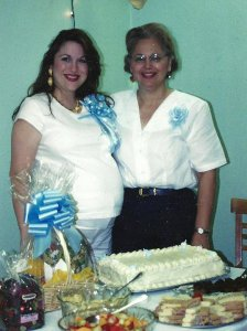 My Momma and I celebrating me becoming a mother.