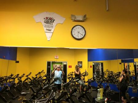 Joey Williams took a picture of my shirt in his cycling studio and posted it on my wall... this... this meant sooo much to me. Thank you Joey! Thank you Gold's Gym!!!