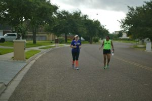 Coach Lori had to twist her ankle in order for her to slow down enough to keep up with my zone 2 pace.