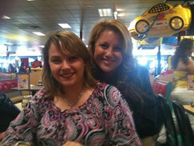 Hey there Dalila :) Dalila and I a few years ago at my son's birthday pizza party.